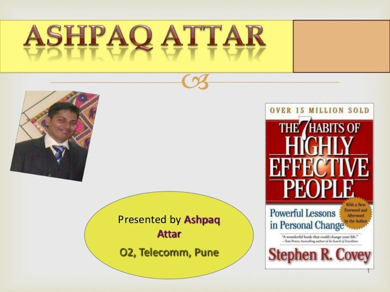 7 habits of highly effective people book review ppt