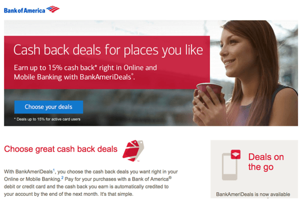 bank of america cash back deals review