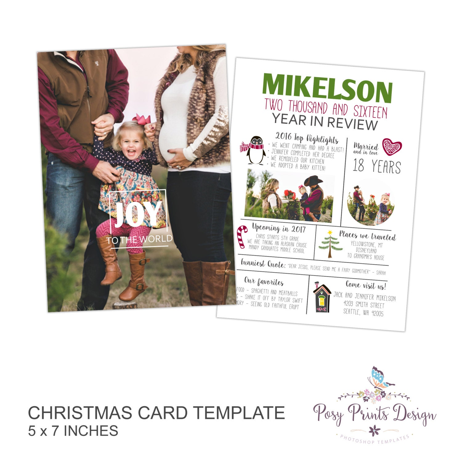 a year in review christmas card template