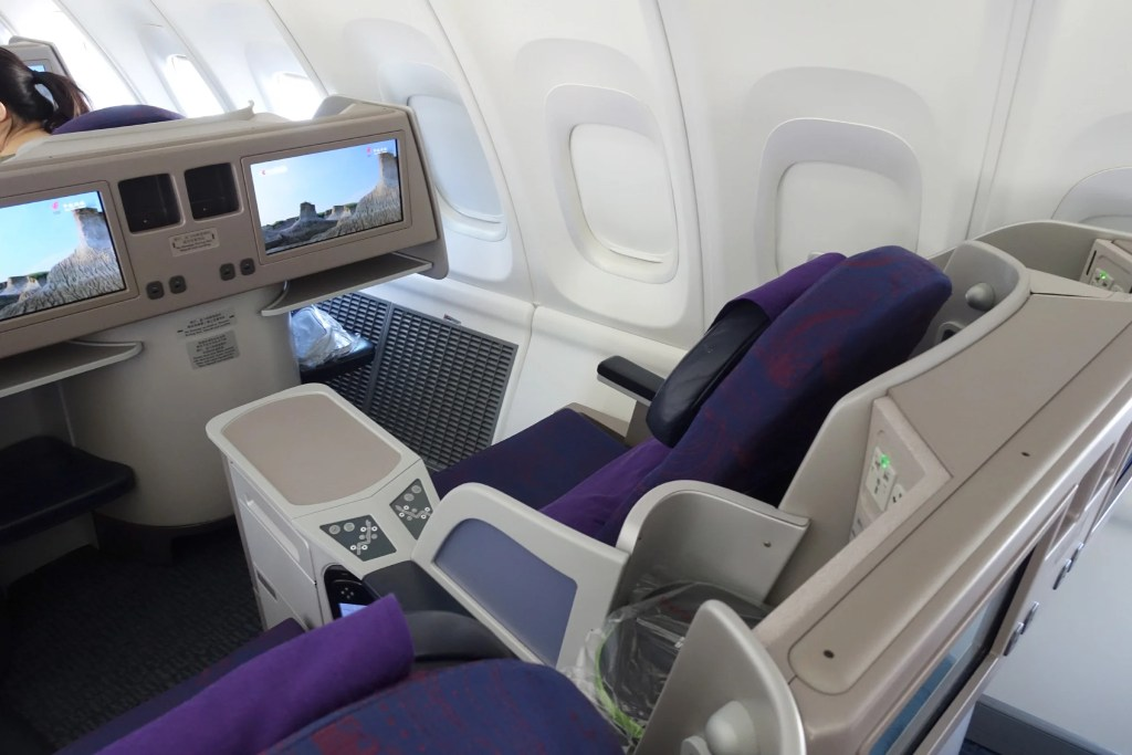 air china 747 business class review