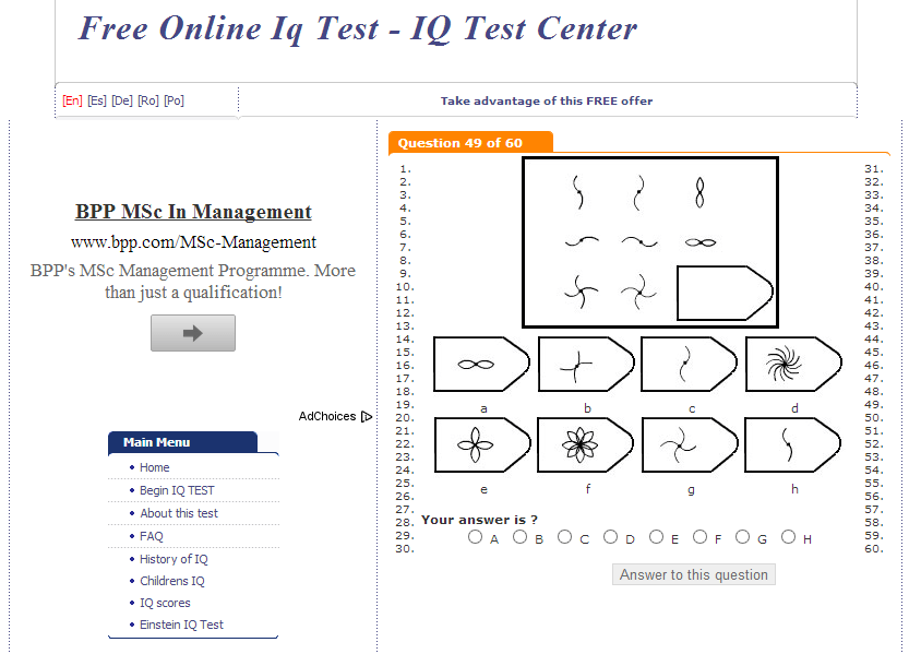 www test iq org review